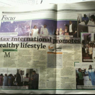 Max International - Special Feature - Daily Graphic, Nov 2015